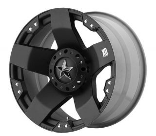 BLACK XD ROCKSTAR 18 X 9 8 LUG ford chevy dodge wheels JEEP F150