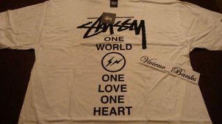 Stussy x Fragment Japan Relief Tshirt White XL supreme box logo