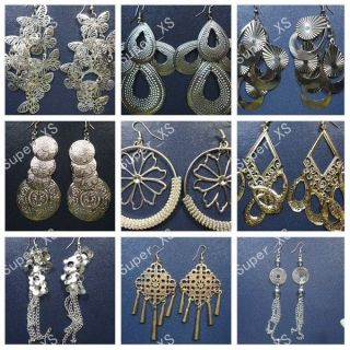 wholesale jewelry lots 6pairs nice fashion silver & gold earrings free