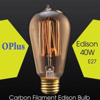 1910 Carbon Filament Edison Bulb 40W 220V