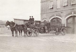 Horse drawn fire ruck Edmonon Albera 1910 larg phoo