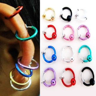 Hoop Boby Nose Lip Ear Ring stud earrings Punk Goth Piercing Septum