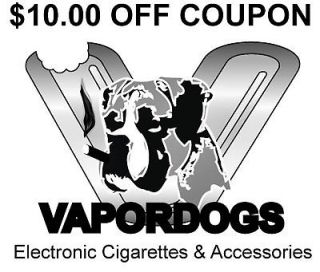 Electronic Cigarette OEM $10.00 OFF Coupon   Go Vapordogs!!!