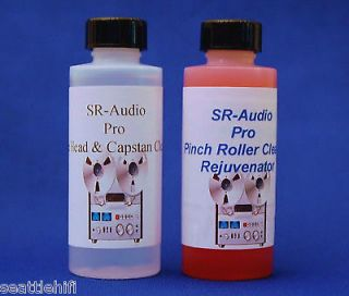 to Reel Cassette Deck Tape Head & Pinch Roller Cleaner Rejuvenator