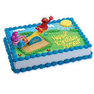 ELMO FOR 1ST OR ANY AGE BIRTHDAY EDIBLE CAKE TOPPER DECORATIONS