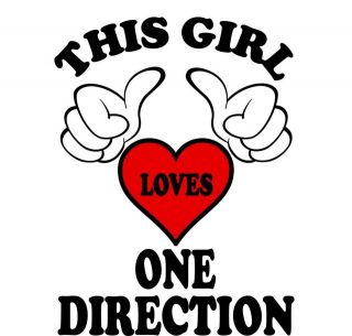 This Girl Loves One Direction Iron on Transfer
