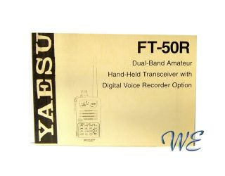 NEW Yaesu FT 50R Operating Manual Book in English