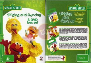 Singing and Dancing 3 DVD Box Set NEW * Elmo Big Bird dance song