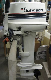 1985 20HP Johnson Outboard Motor J20CRLCOS Long Shaft Tiller Electric