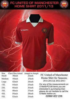 Official FC United of Manchester Red Home ShirtFC UnitedFC UTD