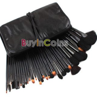 Professional Goat Hair Makeup Cosmetic Brush Set Kit + Pouch Bag Case