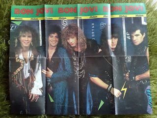HEAVY METAL POSTERJon Bon Jovi+Eurobasket 1987(Hellas 87 signed
