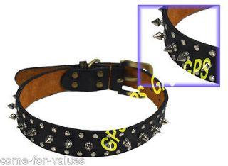 HANDMADE LEATHER STUDDED SPIKED PET DOG COLLAR   60 cm 25 in (L   XL