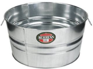 BEHRENS 2GS 13.25gal GALVANIZED ROUND METAL WASH TUBS
