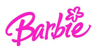 NEW BARBIE LOGO FABRIC / T SHIRT IRON ON TRANSFER