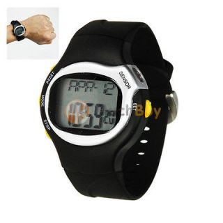 Pulse Heart Rate Monitor Stop Watch Calorie Counter Fitness Exercise
