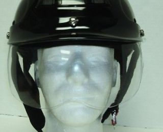 Moped Scooter Motorcycle Half Helmet Face Shield Visor screw clear