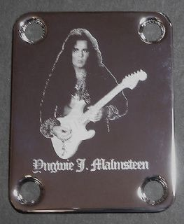 Guitar Parts NECK PLATE Custom Engraved Etched Fits Fender   YNGWIE J