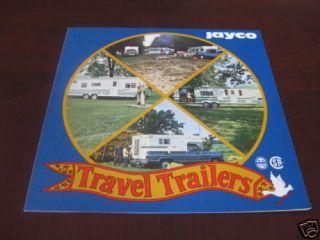1977 1978 ? Jayco Travel Trailer Brochure Camper
