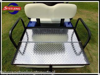 Rear Flip seat kit for EZGO Golf Cart TXT model (White) Limited Xmas