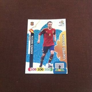 PANINI ADRENALYN XL UEFA EURO 2012 LIMITED EDITION CARD   ANDRES