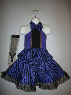 Pageant casual wear purple print outfit 2T/3T/4T .OOC