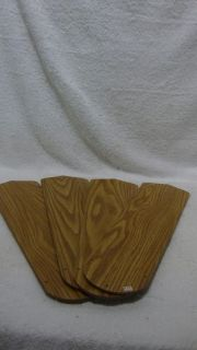 Set of 4 Fan Thing Replacement Ceiling Fan Blades Lt Brown Wood Grain