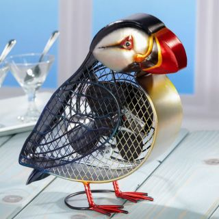 Atlantic Puffin Figurine Tabe Desk Fan by Deco Breeze