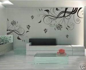 Wallpaper Graffiti Wall Vinyl Sticker Decal Flower 4th