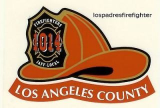 NEW 2 LOS ANGELES COUNTY FIRE HELMET STICKER DECAL NEW