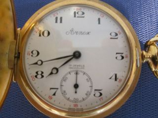 VINTAGE ARNEX 17 JEWELS INCABLOC POCKET WATCH