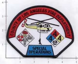 Los Angeles County Fire Dept Special Operations CA Fire Patch