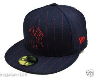 NEW ERA 59Fifty MLB Baseball Fitted Hat Cap New York Yankees Blue Red