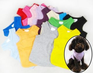 Dog Clothing Wholesale Pet Clothes T shirt Tanks Top Shirts 100%