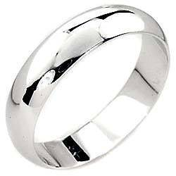 18K White Gold Plated Mens Wedding Band Ring Size 6 7 8 9 10 11 12 13