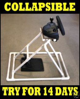 Revolution Steering Wheel Pedals Racing Game Stand