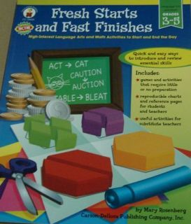 Fresh Starts and Fast Finishes High Interest Language Arts and Math