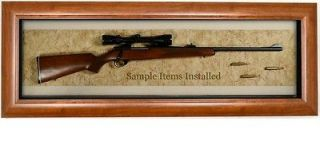 RIFLE DISPLAY CASE   Wall Mounted Gun Display Case   Heirloom Quality
