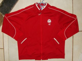 2005 CANADIAN OLYMPIC TEAM FULL ZIP JACKET WITH TWO POCKETS THAT ZIP