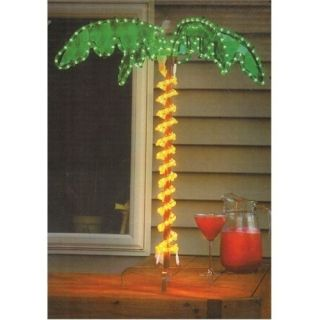 Tropical Lighted Holographic 30 Rope Light Indoor/Outdoor Palm Tree