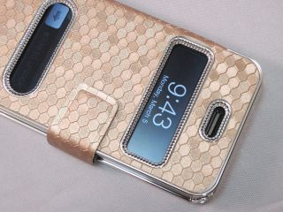 Luxury Synthetic Leather Magnetic Flip Case Cover for iPhone 4 4G 4S