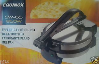 NEW EQUINOX 8 Electric Tortilla Flat Bread Press Tortilla Maker