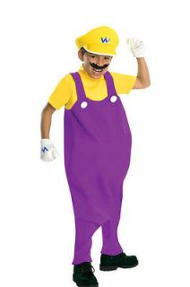 Boys Child Super Mario Brothers Deluxe Wario Inflatable Belly Bad Guy