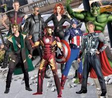 Adult Marvel Avengers Iron Man Captain America Thor Hulk Blk Widow