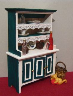 dolls house rustic shabby chic French provincial kitchen DRESSER