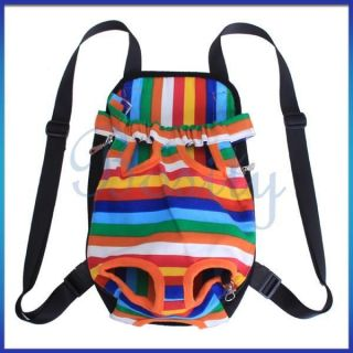 Nylon Canvas Sport Pet Dog Cat Front Carrier Backpack Bag Travel Legs