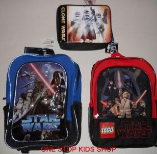 STAR WARS School Bag BACKPACK or LUNCH BOX Tote Pouch Cooler VADER