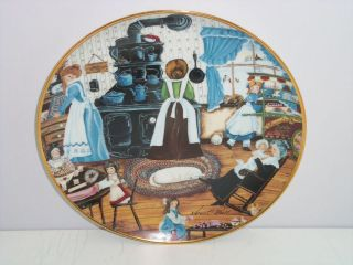 Sweets Kids Old Stove Collector Plate Franklin Mint COA Karyn Bell