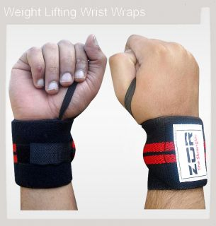 ZOR Power Weight Lifting Wrist Wraps Supports Gym Training Fist Straps