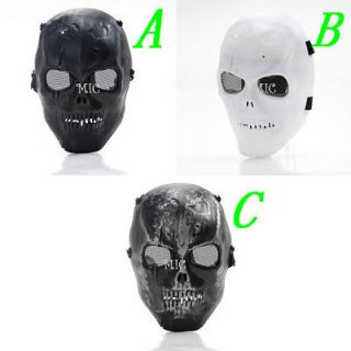 Two Skeleton Airsoft Paintball BB Gun Game Protect Full Skull Mask MG